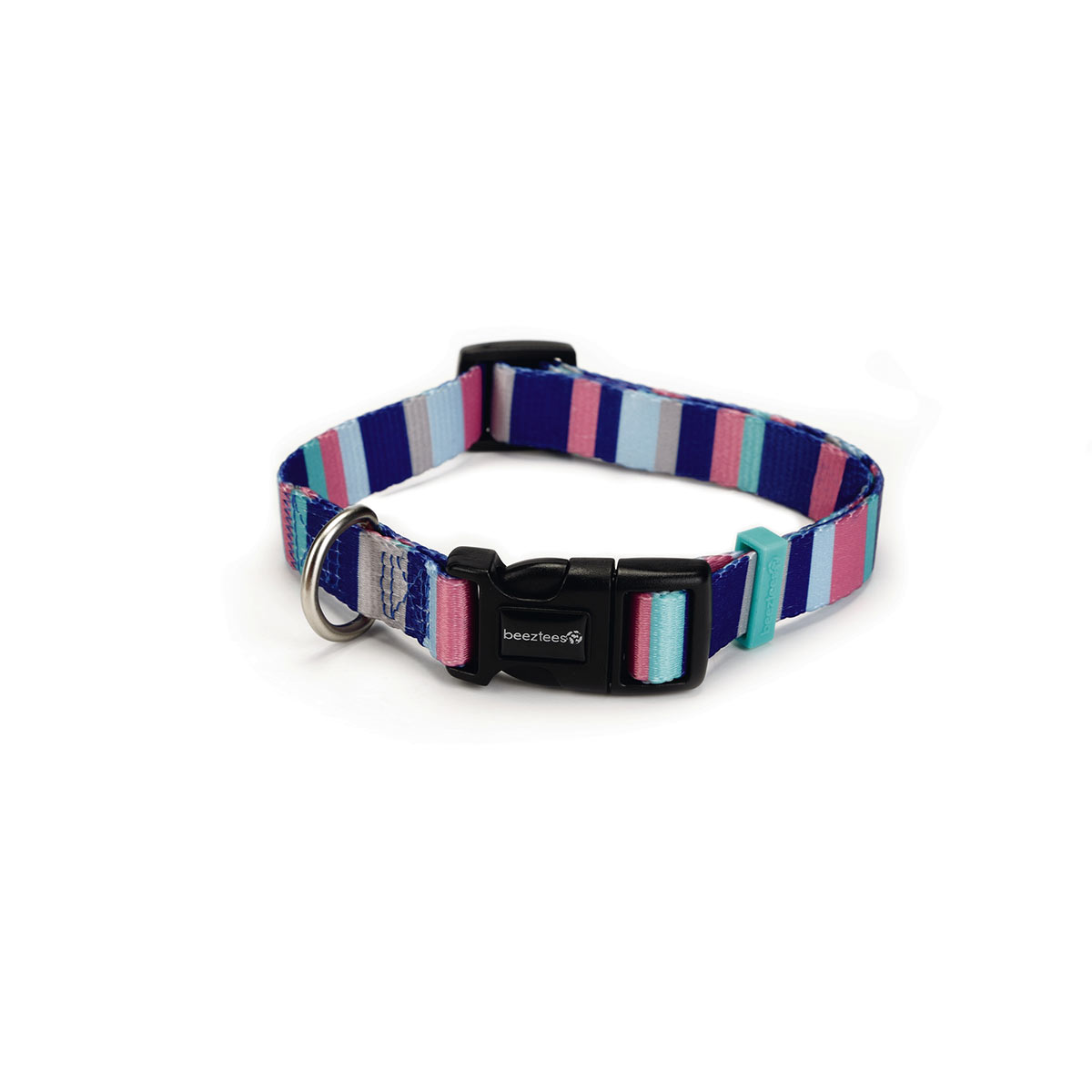 Beeztees Stripes nylonhalsband 35-50 cm x 20 mm