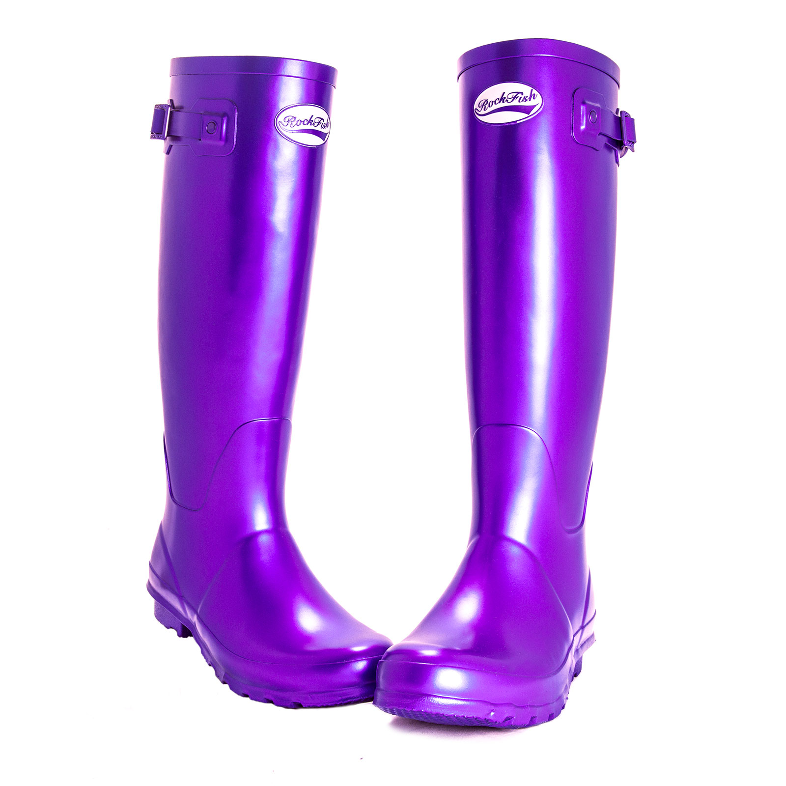 Rockfish Original Wellington Boots Metallic Tall