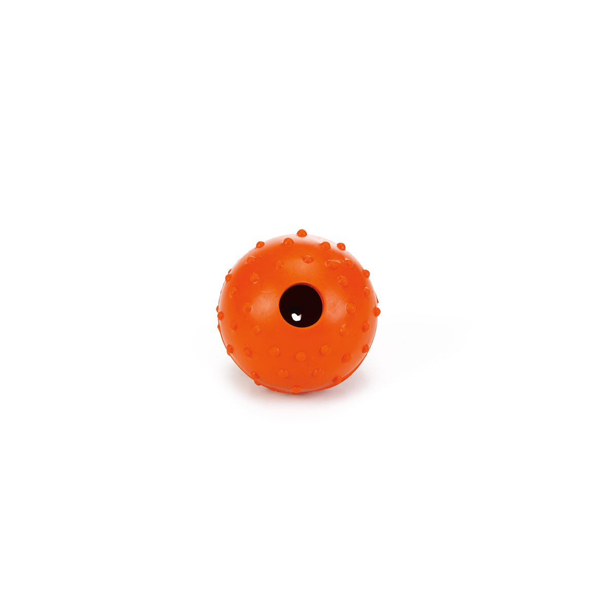 Beeztees solid rubber ball with bell 5 cm