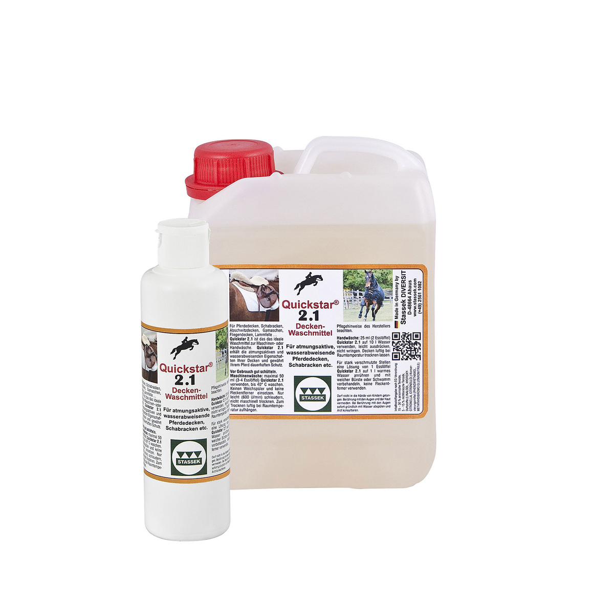 stassek quickstar 2.1 premium tvättmedel för täcken och sadelunderlägg 2  liter b65c296c540d0